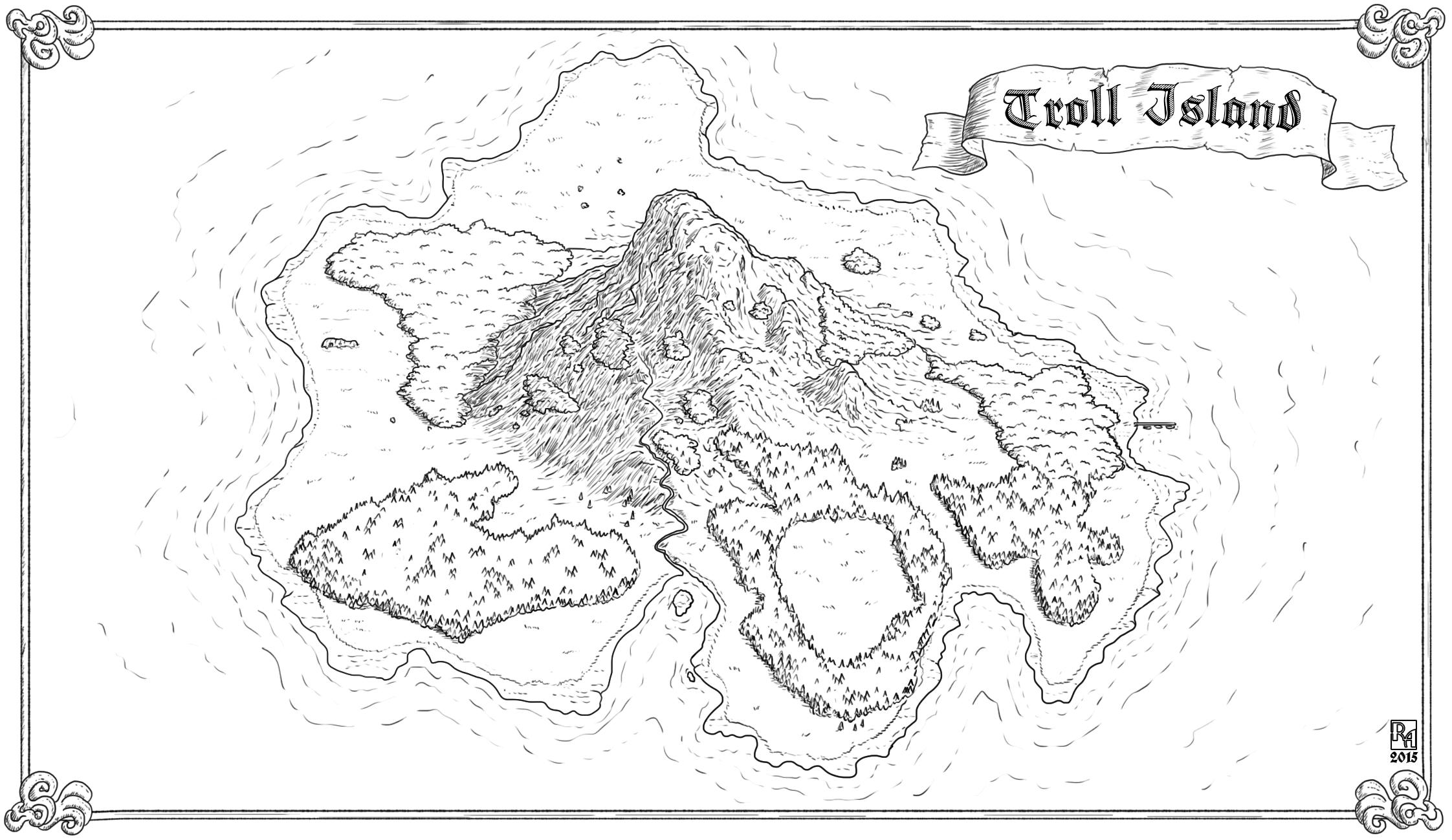 Map of Troll Island